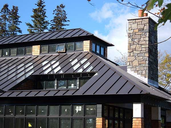 Standing seam metal roofs by c o beck sons roofing - Black metal roof pictures ...