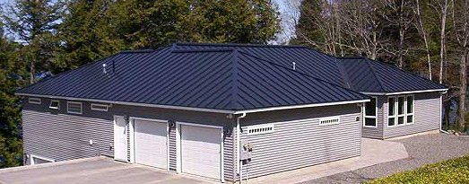 Standing seam metal roofs by c o beck sons roofing sheet metal - Black metal roof pictures ...